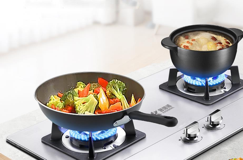 嵌入式不锈钢双头两头燃气炉灶具(煤气炉灶具)