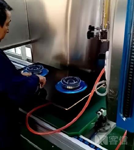 客信燃气灶具明火检测过程