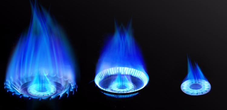 燃气灶猛火炉火焰效果