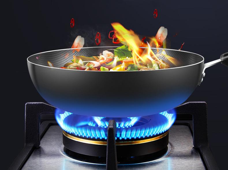 煤改气天然气灶具火焰效果