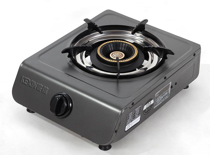 台式喷涂燃气单炉,不粘油电镀单灶具