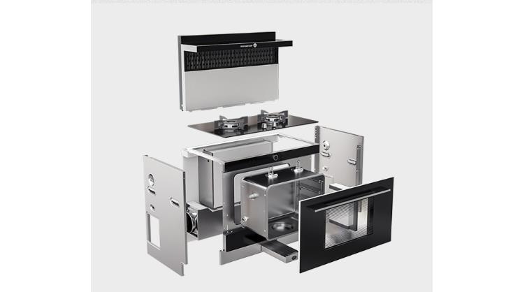不同集成灶厂家,集成灶品牌产品的零部件材料不同